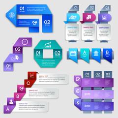Origami infographics elements