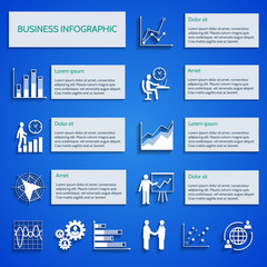 Business chart icons infographic