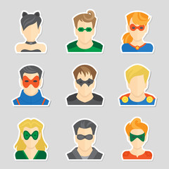 Set of avatar stickers