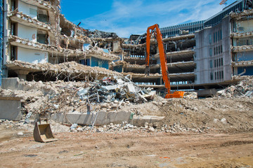demolished buildings