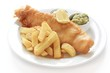traditional fish and chip supper dinner - 68036281