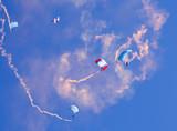 Descent by parachute poster