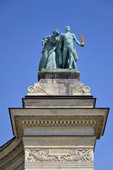 Monumento al Millennio, Particolare del semiciclo destro, Budape