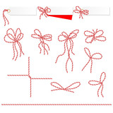 Collection of ribbons ahd bows in twine style - 68037293