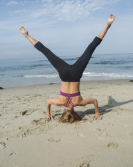 Woman Fitness on the Beach