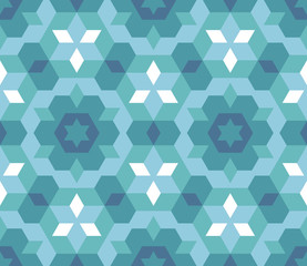 pattern seamless blue mosaic