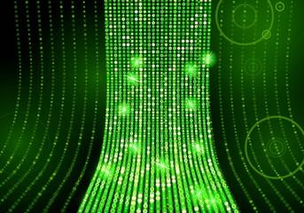 poison green disco light effect background