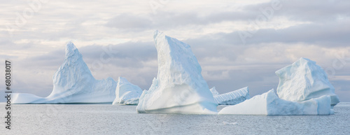 Spoed canvasdoek 2cm dik Antarctica 2 Beautiful icebergs