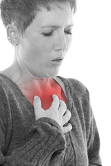 Frau leidet unter anhaltenden Herzstehen