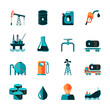Oil Industry Icons - 68038496