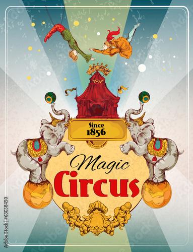Circus retro poster - 68038450