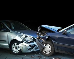 Autos im Verkehrsunfall