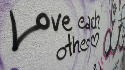 """""""Love each other"""""""