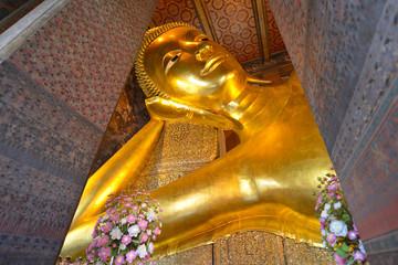 Estatua de Buda en el Wat Pho, Bangkok, Tailandia