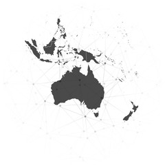 Australia map background vector, illustration for communication