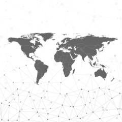 world map vector, illustration for communication