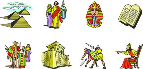 Símbolos representativos de Egipto en épocas de los faraones