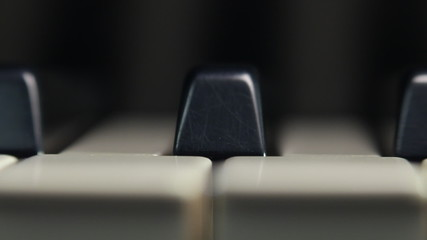 Piano keyboard Dolly Shot