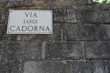 Via Luigi Cadorna