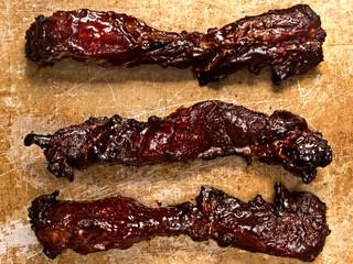 rustic chinese char siew roast pork