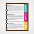 Modern design template infographic of notebook paper.