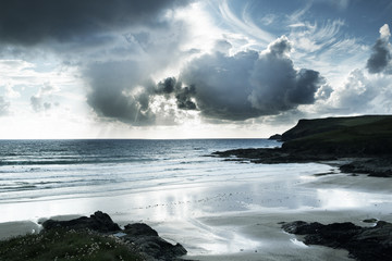 polzeath beach in cornwall england