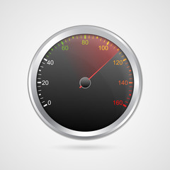 Vector speedometer design. Vector illustration.