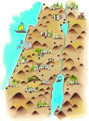 Mapa de Palestina en época de Jesús