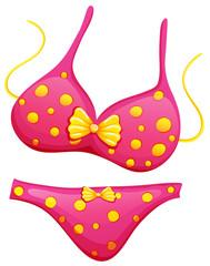 A pink bikini