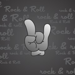 rock and roll theme hand gesture