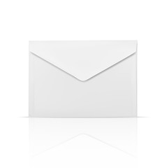 White envelope isolated realistic icon