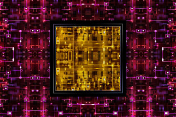 Red&Yellow Electronic Abstract