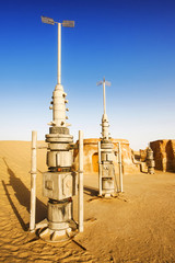 "Abandoned decoration from film ""Star Wars"" (Tatooine planet)"