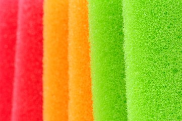 Multicolored Sponges Close-Up