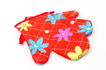 Oven gloves isolated white background