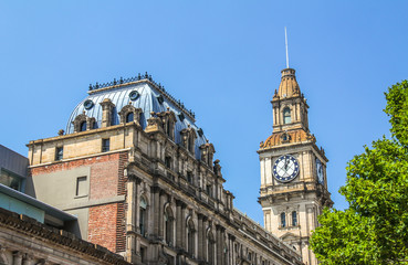 Clock tower of Melbourne Australia