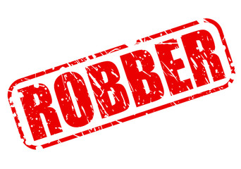 Robber red stamp text