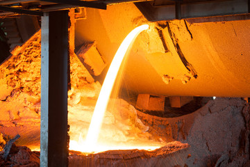 Blast furnace at metallurgical plant