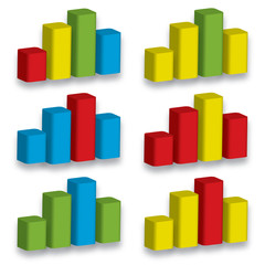 3D chart graph present