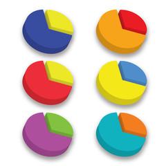 3D color circle chart