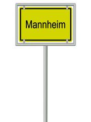 Mannheim - Ortsschild