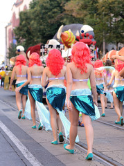 Dancer girls on the carnival