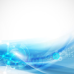 Abstract smooth flow background for technology or science