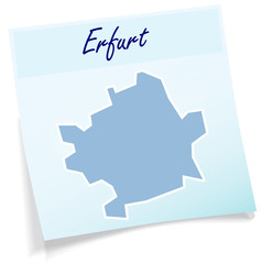 Erfurt als Notizzettel