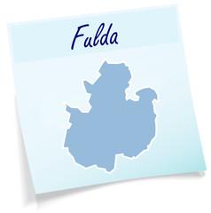 Fulda als Notizzettel
