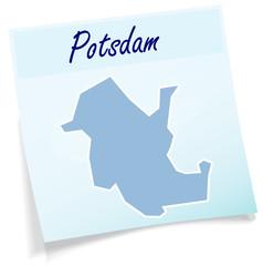 Potsdam als Notizzettel