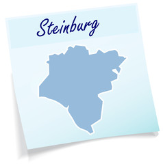 Steinburg als Notizzettel