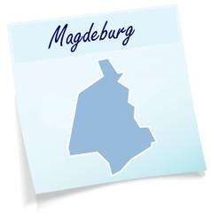 Magdeburg als Notizzettel