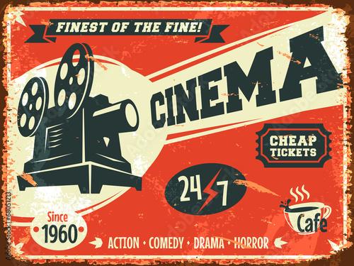 grunge-retro-kino-plakat-ilustracji-wektorowych