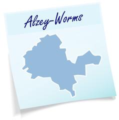 Alzey als Notizzettel